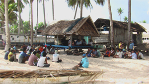 villagers meeting in Wakatobi