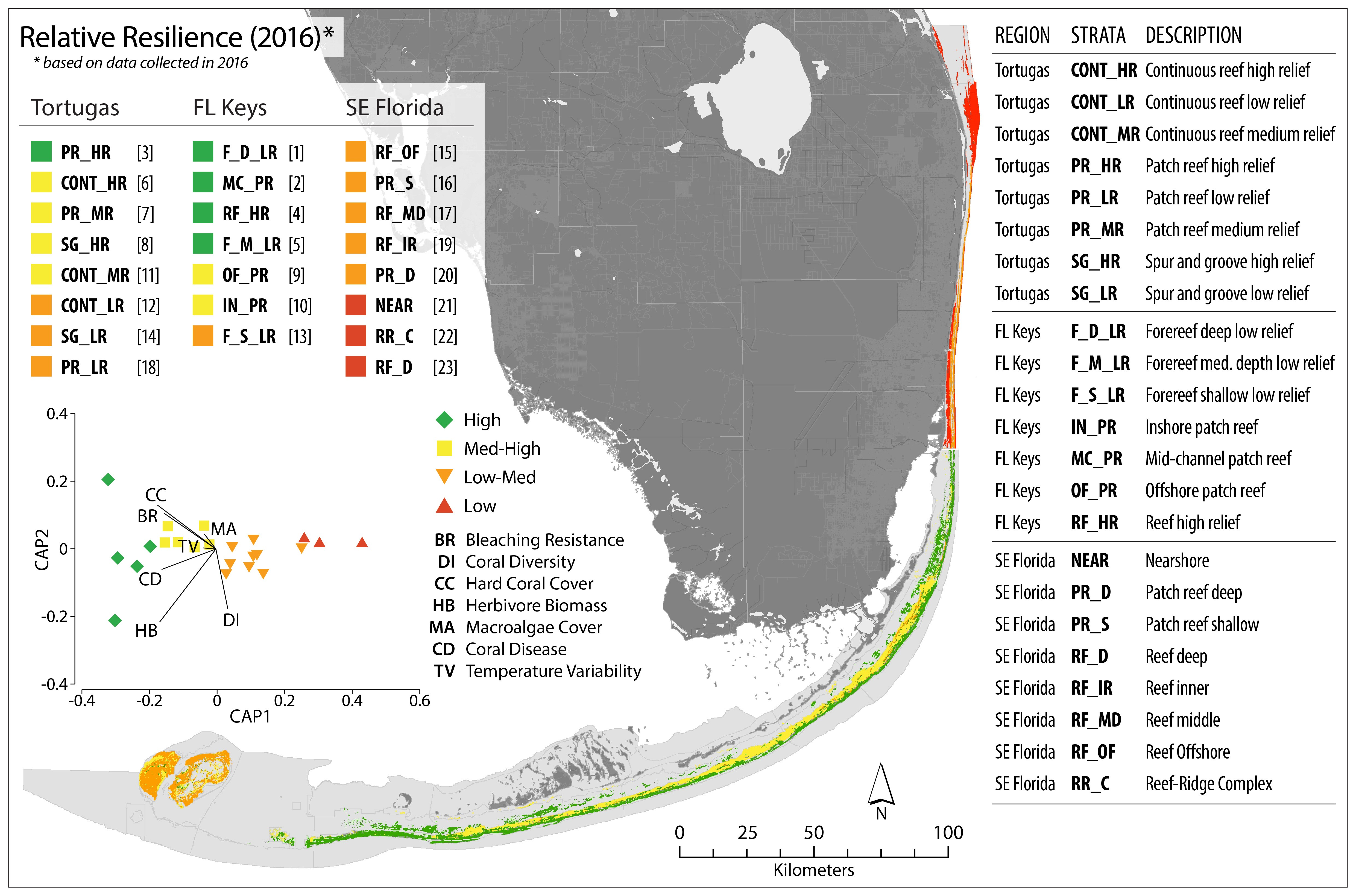 Climate Map Of Florida.Florida Monitoring Reef Resilience Reef Resilience