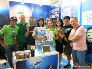 Green Fins booth at the Beijing International Diving Expo. Photo © The Reef-World Foundation