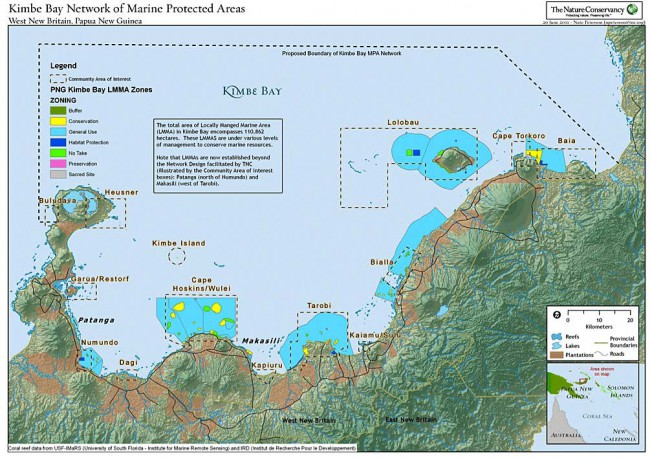 Kimbe Bay Network of Marine Protected Areas.