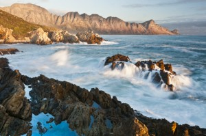 The rugged rocky shoreline of False Bay near Cape Town and site of the Kogelberg Biosphere Reserve. Photo © Peter Chadwick/WWF-SA