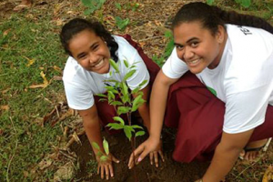 A film about local climate change solutions by students in Samoa was showcased in the Action4Climate International film competition. Photo © Action Against Climate Change