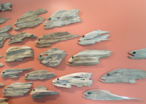 """""""Commitment fish"""" - part of an art installation showcasing positive actions people are taking for reefs"""