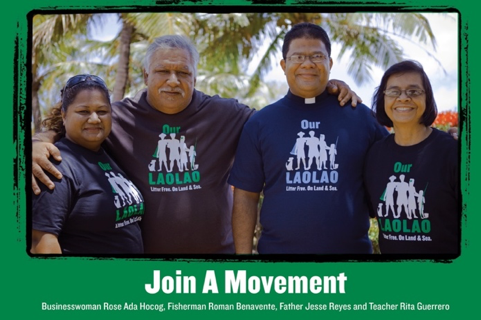 The Our Laolao campaign in the Commonwealth of Northern Marianas Islands engaged respected community leaders who represented different social and culture groups as messengers for its anti-litter platform.